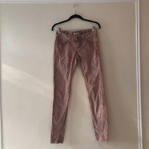 Pink corduroy skinny jeans Free People